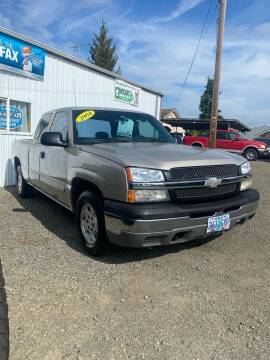 2004 Chevrolet Silverado 1500 for sale at M AND S CAR SALES LLC in Independence OR