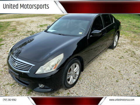 2011 Infiniti G25 Sedan for sale at United Motorsports in Virginia Beach VA