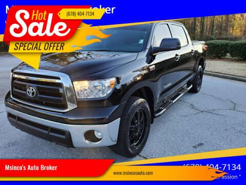 2013 Toyota Tundra for sale at Msinco's Auto Broker in Snellville GA