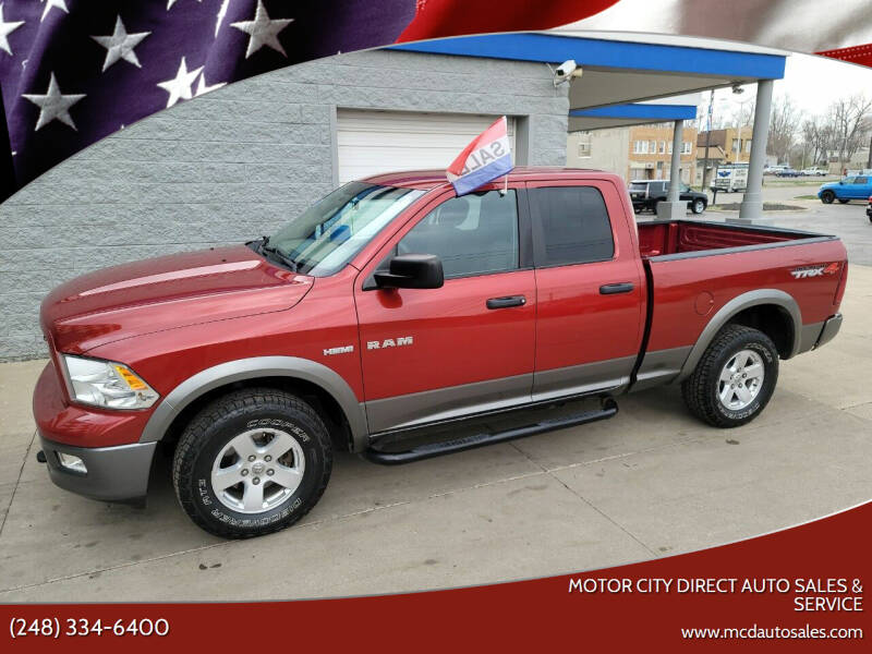 2010 Dodge Ram Pickup 1500 for sale at Motor City Direct Auto Sales & Service in Pontiac MI