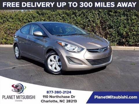 2016 Hyundai Elantra for sale at Planet Automotive Group in Charlotte NC