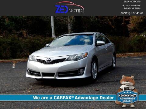 2012 Toyota Camry for sale at Zed Motors in Raleigh NC
