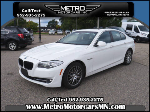 2013 BMW 5 Series for sale at Metro Motorcars Inc in Hopkins MN