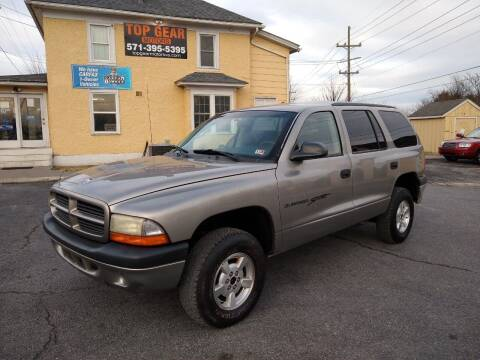 2001 Dodge Durango for sale at Top Gear Motors in Winchester VA