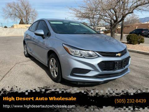 2017 Chevrolet Cruze for sale at High Desert Auto Wholesale in Albuquerque NM