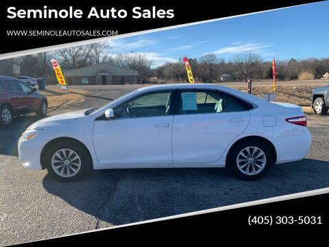 2016 Toyota Camry for sale at Seminole Auto Sales in Seminole OK