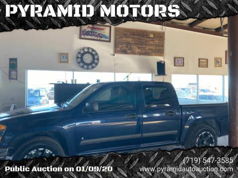 2007 Chevrolet Colorado for sale at PYRAMID MOTORS - Pueblo Lot in Pueblo CO