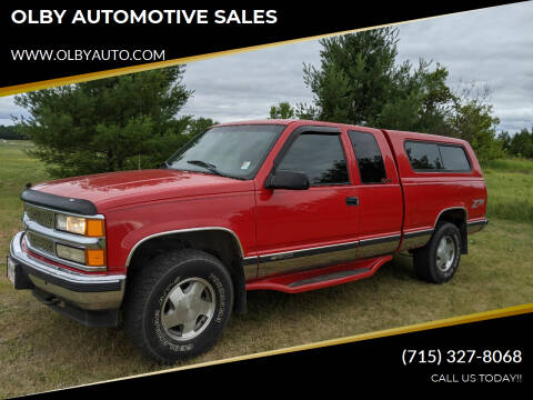 1999 Chevrolet C/K 1500 Series for sale at OLBY AUTOMOTIVE SALES in Frederic WI