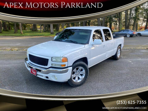 2005 GMC Sierra 1500 for sale at Apex Motors Parkland in Tacoma WA