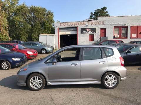 2007 Honda Fit for sale at Dan's Auto Sales and Repair LLC in East Hartford CT