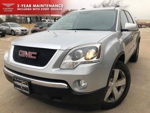 2011 GMC Acadia for sale at European Motors Inc in Plano TX