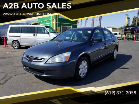 2003 Honda Accord for sale at A2B AUTO SALES in Chula Vista CA