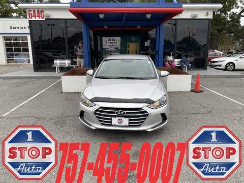 2017 Hyundai Elantra for sale at 1 Stop Auto in Norfolk VA