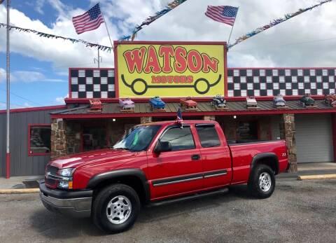 2003 Chevrolet Silverado 1500 for sale at Watson Motors in Poteau OK