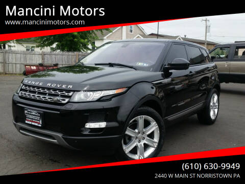 2015 Land Rover Range Rover Evoque for sale at Mancini Motors in Norristown PA