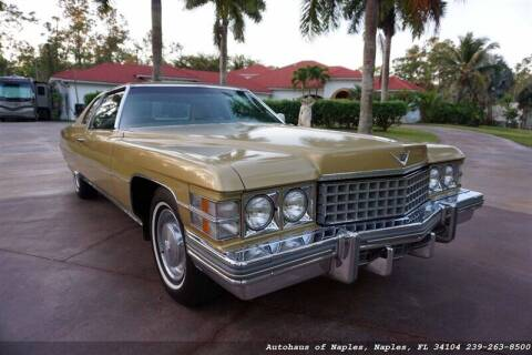 1974 Cadillac DeVille for sale at Autohaus of Naples Inc. in Naples FL