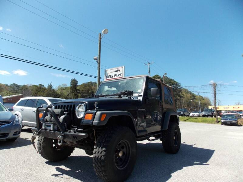 2000 Jeep Wrangler for sale at Deer Park Auto Sales Corp in Newport News VA