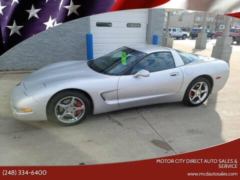 2002 Chevrolet Corvette for sale at Motor City Direct Auto Sales & Service in Pontiac MI
