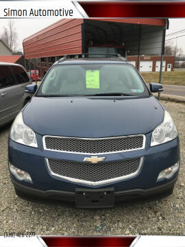 2012 Chevrolet Traverse for sale at Simon Automotive in East Palestine OH