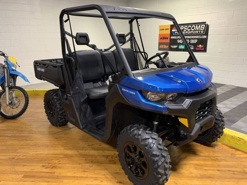 2021 Can-Am Defender DPS HD8 Oxford Blue for sale at Lipscomb Powersports in Wichita Falls TX