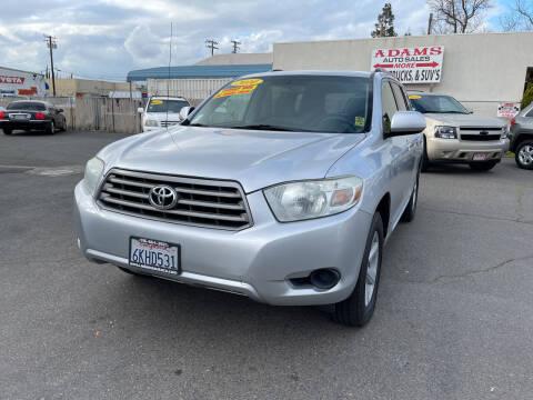 2010 Toyota Highlander for sale at Adams Auto Sales in Sacramento CA