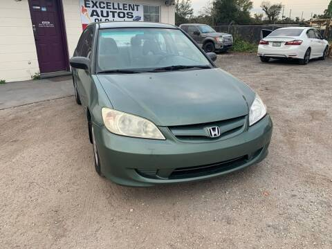 2004 Honda Civic for sale at Excellent Autos of Orlando in Orlando FL