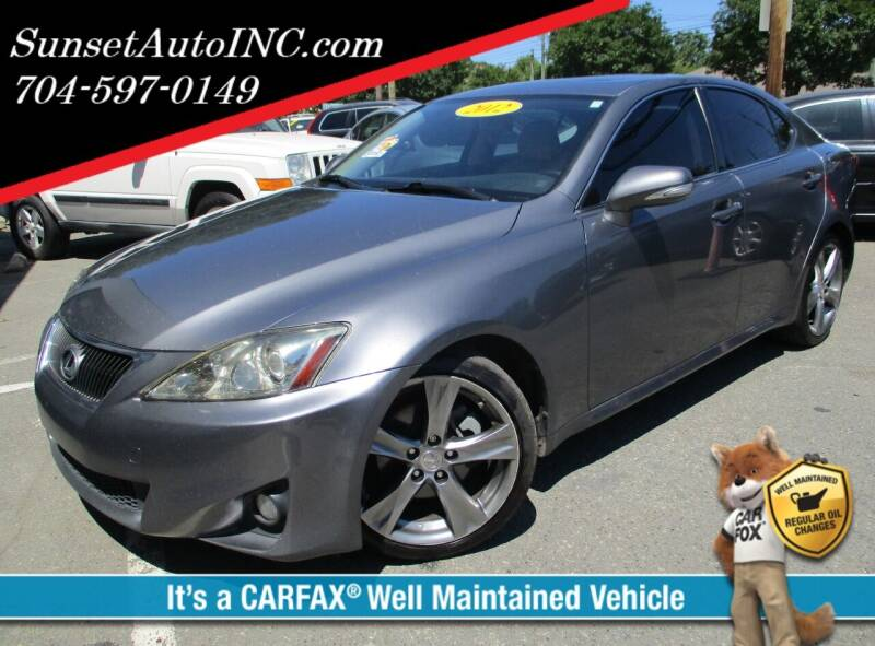 2012 Lexus IS 250 for sale at Sunset Auto in Charlotte NC