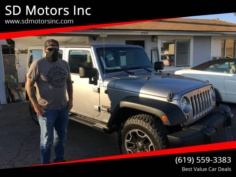2018 Jeep Wrangler JK Unlimited for sale at SD Motors Inc in La Mesa CA