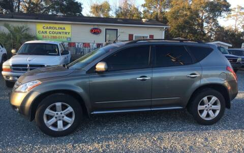 2007 Nissan Murano for sale at Carolina Car Country in Little River SC