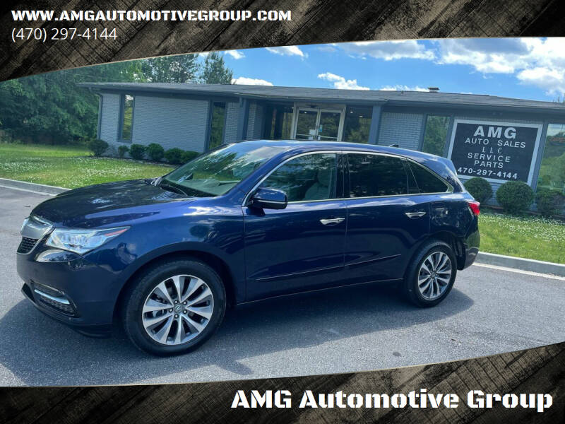 2015 Acura MDX for sale at AMG Automotive Group in Cumming GA