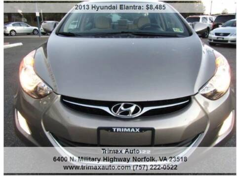 2013 Hyundai Elantra for sale at Trimax Auto Group in Norfolk VA