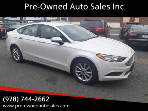 2017 Ford Fusion for sale at Pre-Owned Auto Sales Inc in Salem MA