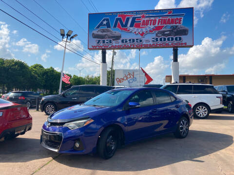 2015 Toyota Corolla for sale at ANF AUTO FINANCE in Houston TX