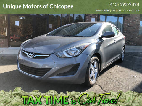 2014 Hyundai Elantra for sale at Unique Motors of Chicopee in Chicopee MA