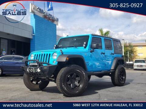 2017 Jeep Wrangler Unlimited for sale at Tech Auto Sales in Hialeah FL