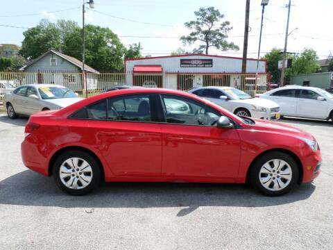 2015 Chevrolet Cruze for sale at David Morgin Credit in Houston TX
