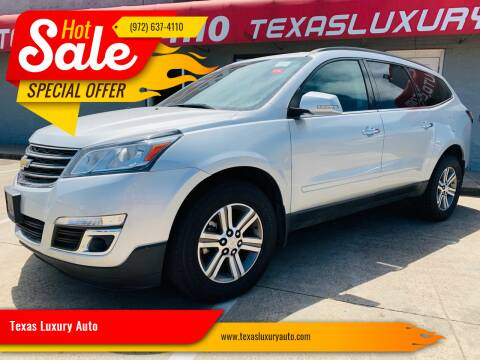 2016 Chevrolet Traverse for sale at Texas Luxury Auto in Cedar Hill TX
