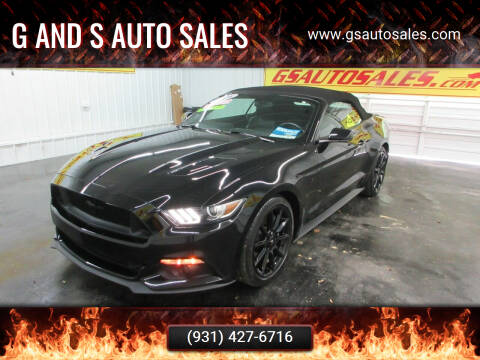 2016 Ford Mustang for sale at G and S Auto Sales in Ardmore TN