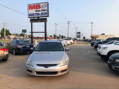 2005 Honda Accord for sale at MB Auto Sales in Oklahoma City OK