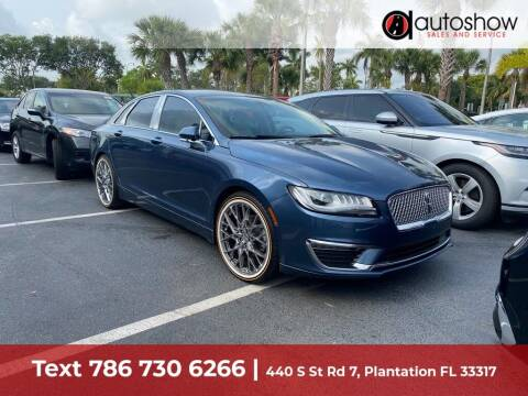 2019 Lincoln MKZ for sale at AUTOSHOW SALES & SERVICE in Plantation FL