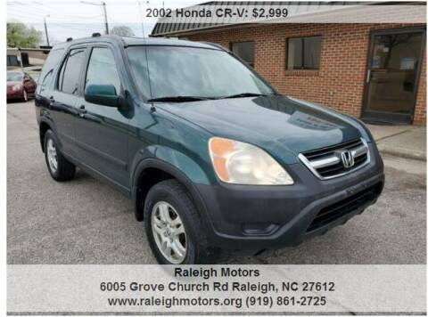 2002 Honda CR-V for sale at Raleigh Motors in Raleigh NC