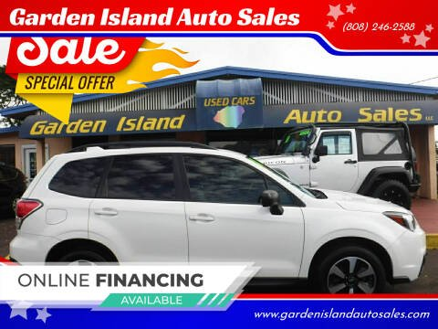 2018 Subaru Forester for sale at Garden Island Auto Sales in Lihue HI