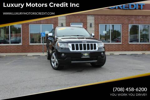 2012 Jeep Grand Cherokee for sale at Luxury Motors Credit Inc in Bridgeview IL