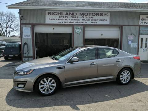 2014 Kia Optima for sale at Richland Motors in Cleveland OH