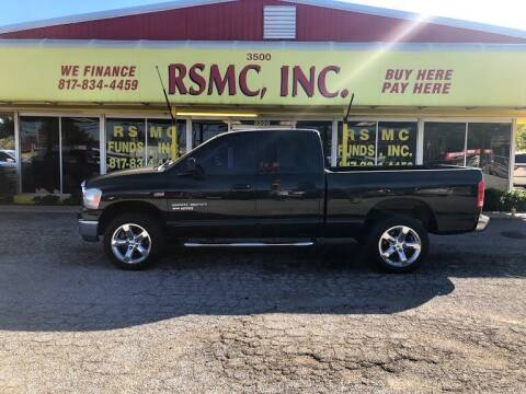 2006 Dodge Ram Pickup 1500 for sale at Ron Self Motor Company in Fort Worth TX