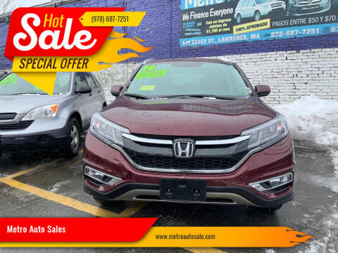 2016 Honda CR-V for sale at Metro Auto Sales in Lawrence MA