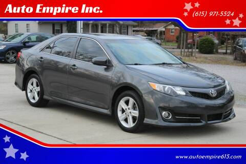 2012 Toyota Camry for sale at Auto Empire Inc. in Murfreesboro TN