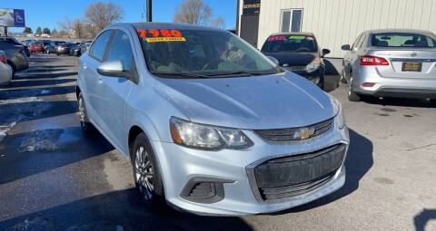 2017 Chevrolet Sonic for sale at BELOW BOOK AUTO SALES in Idaho Falls ID