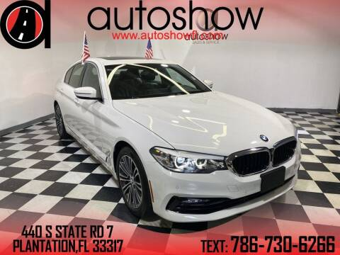 2018 BMW 5 Series for sale at AUTOSHOW SALES & SERVICE in Plantation FL