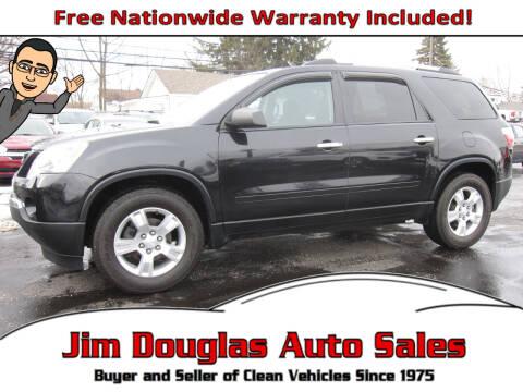 2012 GMC Acadia for sale at Jim Douglas Auto Sales in Pontiac MI